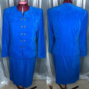 Leslie Fay 1980's Power suit double button front